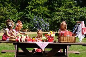 Bakgrunnsbilder Tyskland Parker Buketter Dukke Jenter Kurv Grugapark Essen Natur