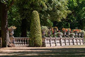 Bakgrunnsbilder Tyskland Potsdam Parker Gjerder Busker Design Park Sanssouci Natur