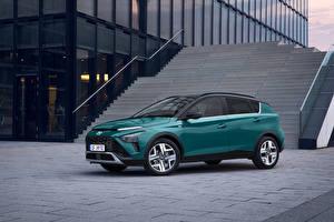 Tapety na pulpit Hyundai Crossover Zielony Metaliczna Bayon, (Worldwide), 2021 Samochody