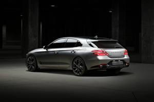 Fotos & Bilder Hyundai Silber Farbe Metallisch Genesis G70 2.0T AWD Shooting Brake, (EU-spec), 2021 Autos