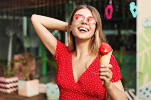 Images Ice cream Frock Smile Happy Glasses Girls