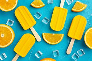 Fotos & Bilder Speiseeis Orange Frucht Eis Gelb Lebensmittel