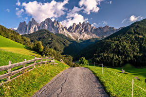 Bilder Italien Gebirge Wege Alpen Dolomites, South Tyrol Natur