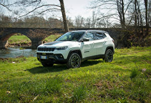 Pictures Jeep Crossover White 2021 Compass Trailhawk 4xe auto