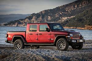 Bilder Jeep Sport Utility Vehicle Rot Pick-up 2021 Gladiator 80th Anniversary