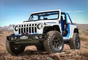 Bilder Jeep Tuning Sport Utility Vehicle Weiß Pick-up 2021 Wrangler Magneto