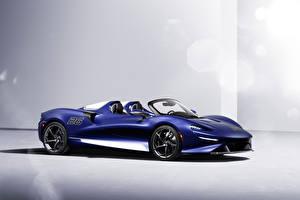 Fonds d'écran McLaren Bleu Métallique Roadster Elva Windscreen Version, (North America), 2021 voiture