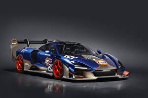 Fonds d'écran McLaren Tuning Fond gris 2020-21 Senna GTR LM 825-2 Gulf car Voitures