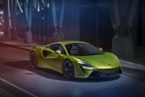 Fonds d'écran McLaren Jaune-vert  automobile