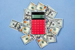Hintergrundbilder Geld Banknoten Dollars Farbigen hintergrund calculator