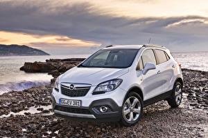 Photo Opel White Metallic Crossover Mokka, (Worldwide), 2012-16 auto