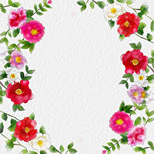 Picture Painting Art Paper Template greeting card flower