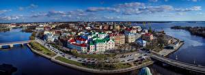 Bilder Russland Gebäude Panorama Brücken Yaroslav Kotov, Viborg Städte