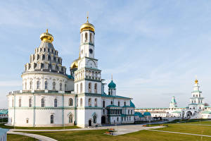 Wallpapers Russia Moscow Temples Monastery Church New Jerusalem Monastery Istra Cities