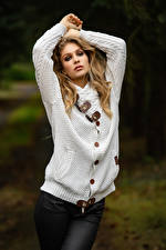 Image Pose Sweater Hands Glance Sladjana Girls