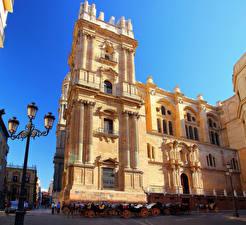 Hintergrundbilder Spanien Tempel Straßenlaterne Kutsche Stadtstraße  Städte