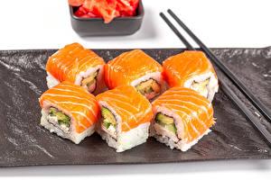 Fotos & Bilder Sushi Fische - Lebensmittel Essstäbchen Lebensmittel