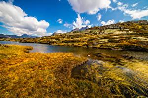 Bakgrunnsbilder Sveits Fjell Alpene Skyer  Natur