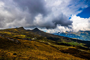 Bakgrunnsbilder Sveits Fjell Alpene Skyer Eiger Natur