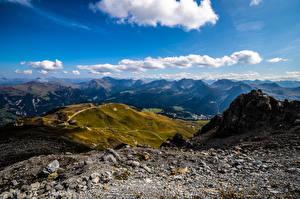 Bakgrunnsbilder Sveits Fjell Steiner Skyer Alpene Arosa Natur
