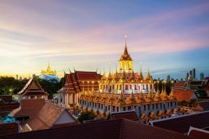 Sfondi desktop Thailandia Bangkok Tempio Serata Wat Ratchanatdaram, Loha Prasat