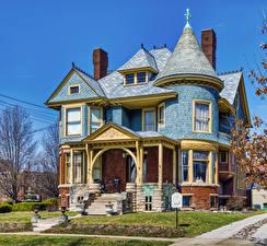 Hintergrundbilder Vereinigte Staaten Herrenhaus Design Bloomington, Illinois Städte