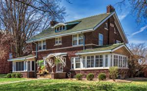 Bilder USA Eigenheim Design Franklin Square Historic District, Bloomington, Illinois Städte