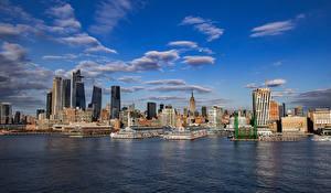 Bureaubladachtergronden Amerika Gebouwen Wolkenkrabbers New York Steden