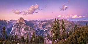Hintergrundbilder Vereinigte Staaten Park Gebirge Landschaftsfotografie Panorama Yosemite Felsen Bäume Kalifornien Glacier Point Natur