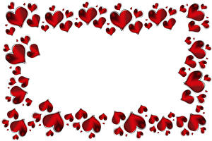 Фотографии День святого Валентина Сердце Белый фон Шаблон поздравительной открытки