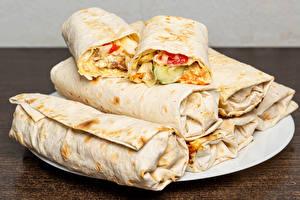Fotos Gemüse Viel shawarma pita das Essen