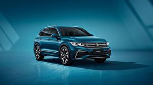 Bureaubladachtergronden Volkswagen Cross-over auto Metallic Tiguan L 380 TSI 4MOTION R-Line, (China), 2021