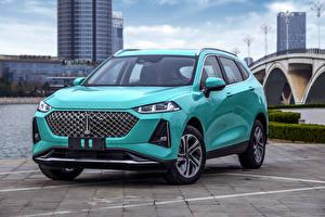 Wallpaper Crossover Metallic Front Chinese WEY Macchiato, 2021 automobile