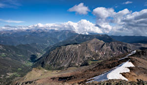 Bakgrunnsbilder Andorra Fjell Skyer Arinsal Natur