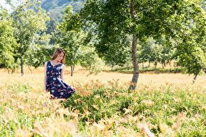 Image Asian Summer Grass Trees Dress Girls