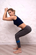 Wallpapers Avery 1997 Fitness Posing Workout Glance young woman