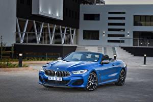 Sfondi desktop BMW Decappottabile Celeste colore Metallizzato 2019 M850i xDrive Cabrio macchina