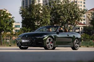 Tapety na pulpit BMW Zielony Metaliczna Kabriolet 2021 430i Cabrio M Sport Samochody