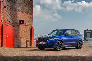 Fotos BMW Crossover Blau 2021 X3 M Competition Worldwide Autos