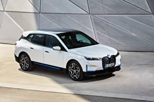 Fondos de Pantalla BMW Blanco Metálico 2021 iX xDrive40 Worldwide Coches imágenes