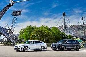 Fondos de escritorio BMW Dos Metálico BMW iX, BMW i4 automóviles