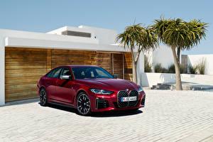 Fonds d'écran BMW Métallique Bordeaux couleur M440i xDrive Gran Coupe, (Worldwide), (G26), 2021 Voitures