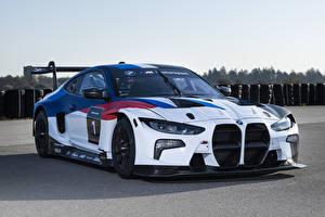 Fondos de Pantalla BMW Tuning Blanco 2021 M4 GT3 Coches imágenes