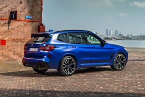 Fondos de Pantalla BMW Crossover Azul Metálico X3 M Competition, (Worldwide), (F97), 2021 Coches imágenes