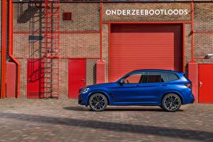 Bilder BMW Blau Softroader Metallisch Seitlich X3 M Competition, (Worldwide), (F97), 2021 auto