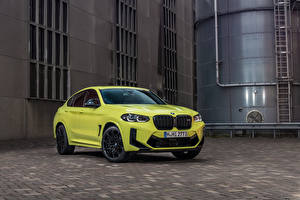 Photo BMW Crossover Lime color Metallic X4 M Competition, (Worldwide), (F98), 2021 automobile