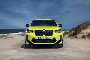 Picture BMW Front Lime color Metallic Crossover X4 M Competition, (Worldwide), (F98), 2021 automobile