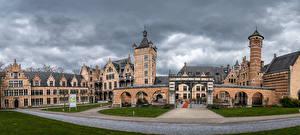 Tapety na pulpit Belgia Zamek Panoramiczna Mortsel, Castle Cantecroy