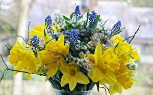 Fondos de escritorio Ramos Narcissus Ranunculus Lupinus
