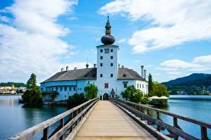 Tapety na pulpit Mosty Austria Hotel Wieża Land Lower Austria, Baden, Schlosshotel Miasta